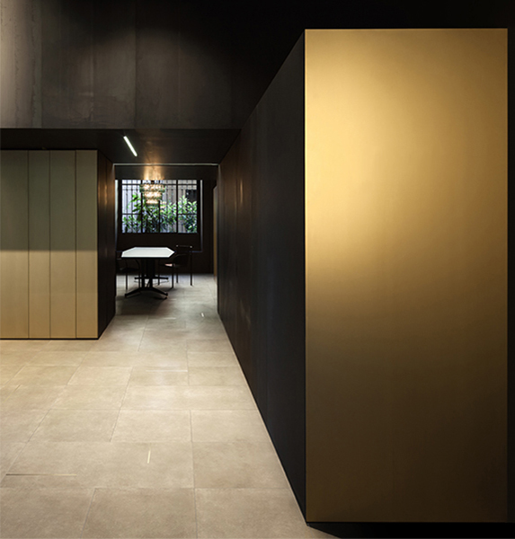 Gold ambienti with ceramica bardelli gres porcelain tiles for interior design